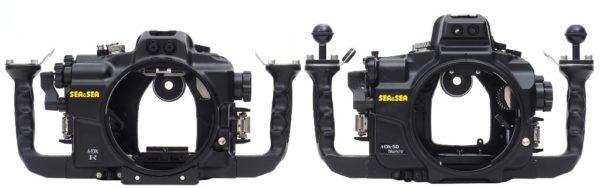 Sea&Sea housing for Canon EOS R MDX-R Front versus standaard MDX housing